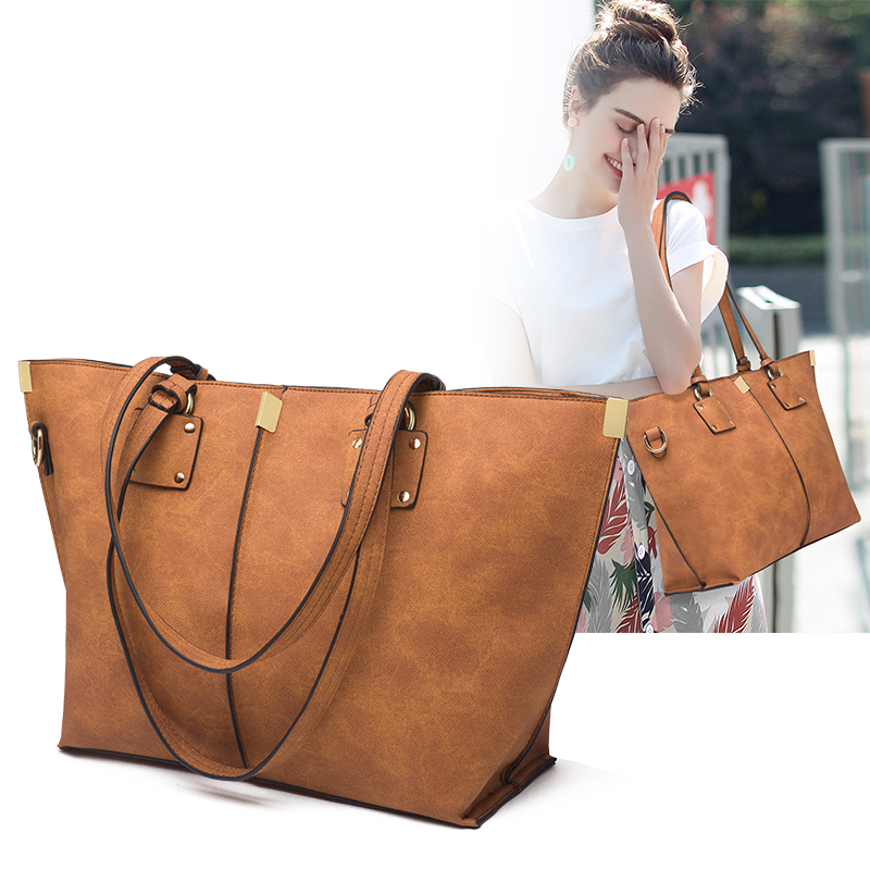 2019 Big Women Handbag Leather Women Shoulder Bags Fashion Women Messenger Bags Ladies Casual Luxury Tote Bags