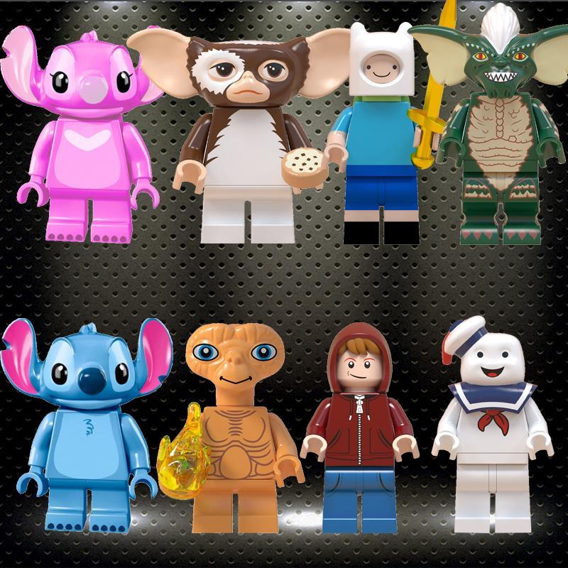 Ed Stitch ET Elliott Angie Gizmo Stay Puft Finn Stripe Building Blocks Gured Toys For Children Gift Gremlins WM6049