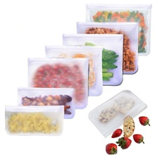 Reusable kitchen Leakproof Containers Stand Up Zip Shut Bag Food Storage Bags Cup Fresh