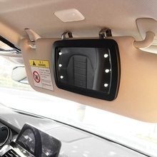 Car Sun Visor Mirror with LED Lights Makeup Sun-Shading Cosmetic Mirror Clip Make Up Mirror with Press Screen for Women