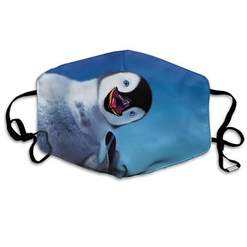 Unisex Print Mouth Mask - Cute Penguin Funny Pattern Polyester Anti-dust Mouth-Muffle - Fashion Washed Reusable Face Masks for unisex print mouth mask abstract light bulb head polyester anti dust mouth muffle fashion washed reusable face masks for