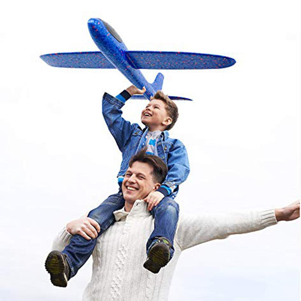 1PCS Outdoor Funny Hand Throwing Glider Flying Airplane Aircraft Children Kids Toy Outdoor Flaying Glider Toys Plane