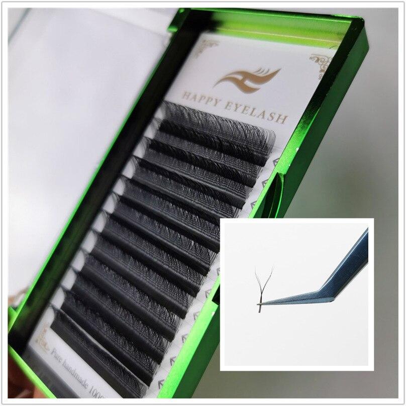 Y Shape Volume Eyelash Extension 8-15 Mixed Length Individual YY False Eyelashes W Weave Lashes Easy Graft Faux Mink Eyelash