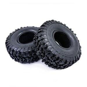 Image 2 - 4 Uds. De neumáticos blandos de 120MM y 1,9 pulgadas para SCX10 90046 D90 TRX4 RC Truck Crawler 1,9/2,2 Rim
