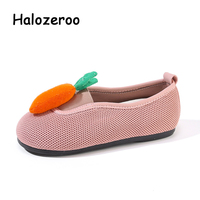 New Autumn Kids Princess Shoes Baby Girls Rabbit Flats Children Brand Pink Shoes Sweet Slip On Loafers Soft Fashion Moccasin