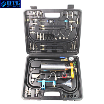 Automotive Non-dismantle Fuel Injector Cleaner Kit and Tester with Case for Petrol EFI Throttle Petrol Cars, 750ML Tank, 145PSI gx100 auto injector cleaner non dismantle auto fuel injection washing tool car fuel injector tester cleaning throttle toolkit