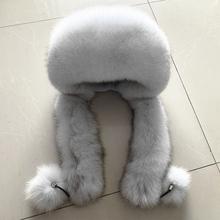 Beaver Ms fox kapelusz królik Mongolia kapelusz księżniczki zimowe nauszniki szalik kapelusz biały czarny kobiece futro na zewnątrz tanie tanio Unisex Dla dorosłych CU (pochodzenie)