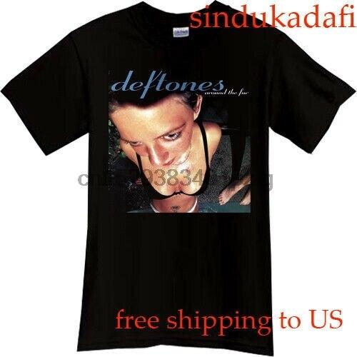 Deftones em torno da pele adrenalina banda preto camiseta tamanho s-3xl