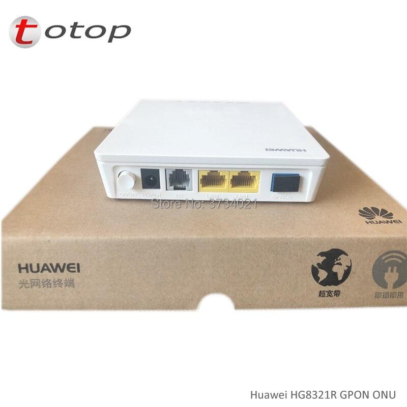 4Pcs Free Shipping Huawei HG8321R GPON ONU ONT 2FE+1TEL Port English Firmware Fiber Optic Onu Gpon Modem
