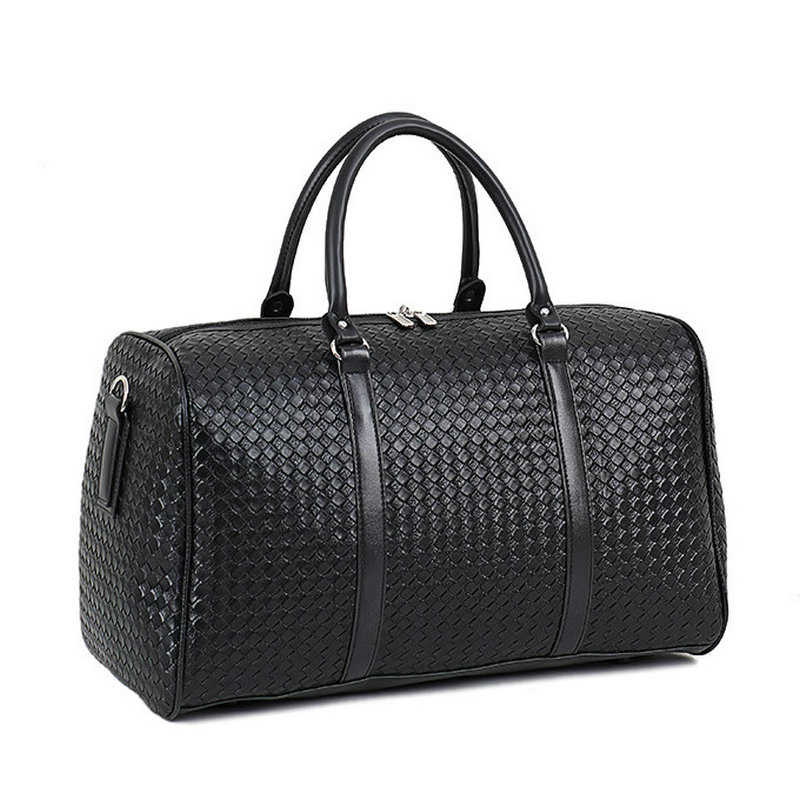 Fashion PU Leather Woven Pattern Travel Bag Large Capacity Men/ Women Shoulder Bags Business Travel Bag Luggage Duffle Bag LGX86