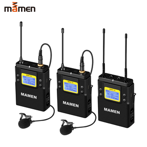 Image 1 - MAMEN UHF çift kanallı dijital kablosuz mikrofon sistemi 2bTransmitters 1 alıcı için kameralı telefon Video ses kayıt