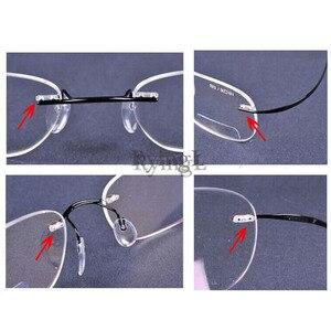 Image 2 - 100 قطعة نظارات بدون إطار مزدوج مقبس مطاطي قفل البطانات النظارات البلاستيكية مزدوجة جلبة دبابيس