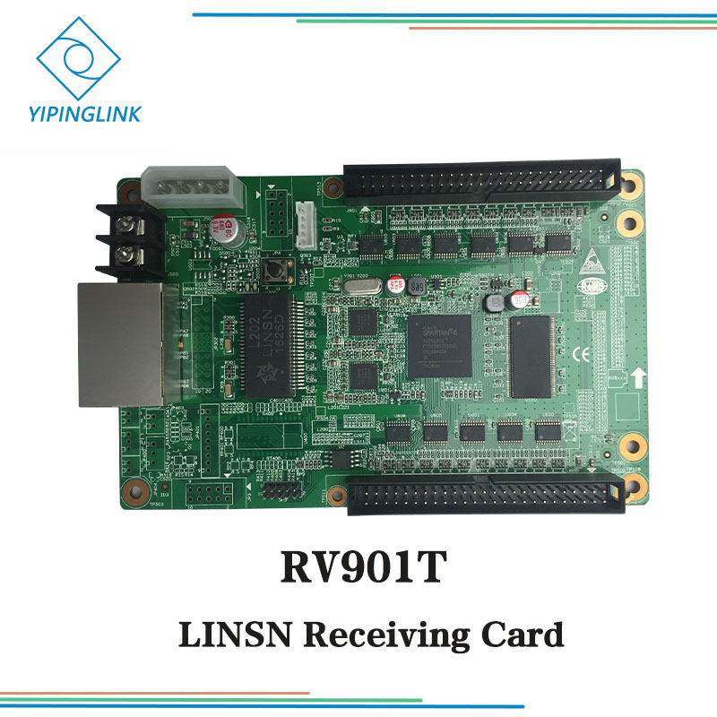 LINSN Full Color Synchronous Led Screen Display Receiving Card RV901 RV901T Receiver Card