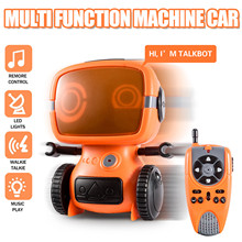 Toy Robot Programming Intelligent with Walkie-Talkie Wireless-Control Mode Educational-Toys