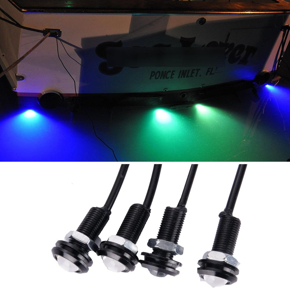 LED Boat Light Waterproof 12v  Bow Stern Safety Lights Marine Duck Lite Underwater Ski Gunwales Lane Marker Lite Dirtbike