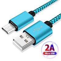 Nylon Geflochtene Micro USB Kabel 1m/2m/3m Daten Sync USB Ladegerät Kabel Für Samsung HTC LG huawei xiaomi Android Telefon Kabel
