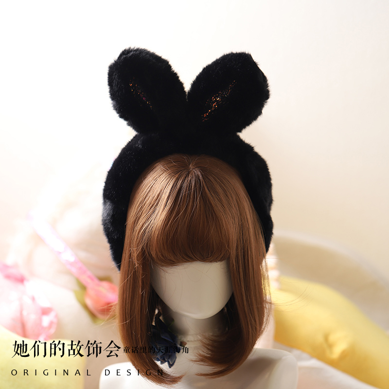 Princess Sweet Lolita Earmuff Autumn And Winter Sweet Lovely Rabbit Ear Traveling And Shopping All Match Earmuff Women GSH238