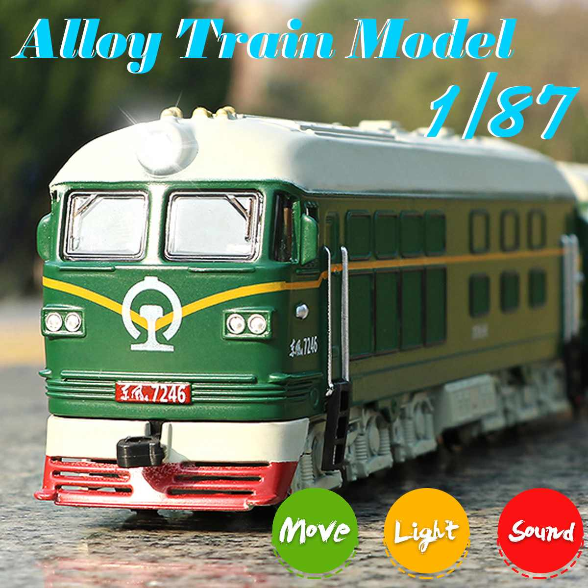 1:87 Magnetic Pull Back Alloy Connected Subway Metro Track Train Alloy Model Toys Sound & Light Car Collection
