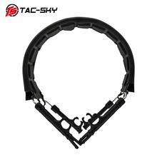 TAC SKY airsoft tiro tático fones de ouvido com bandana suporte aro headset acessórios substituição