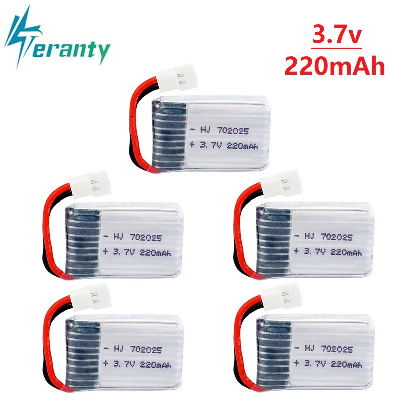 1Pcs/3Pcs/5Pcs 3.7V 200mAh Lipo Battery For Syma X4 X11 X13 Remote Control Helicopter 3.7V Lithium Battery Aircraft Model 752025