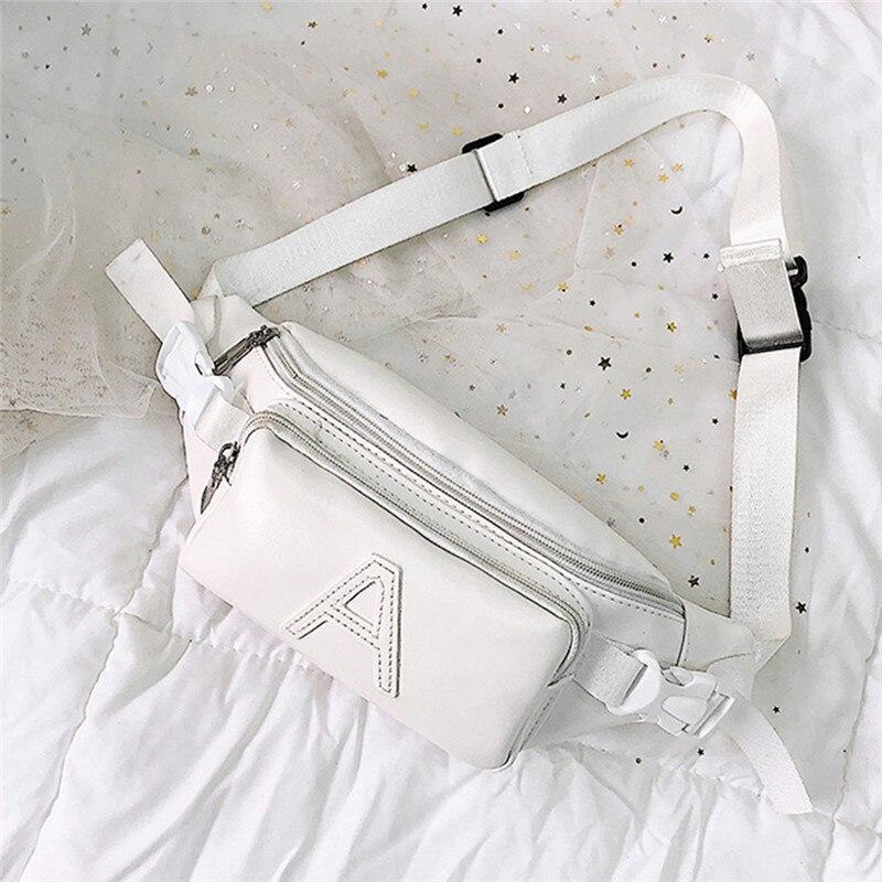 plutônio unisex moda cor pura bolsa de