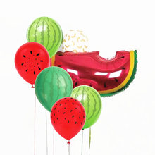 10pcs 12 Inches Watermelon Latex Balloons Summer Hawaii Party Decoration Birthday Theme Party Decor Supplies