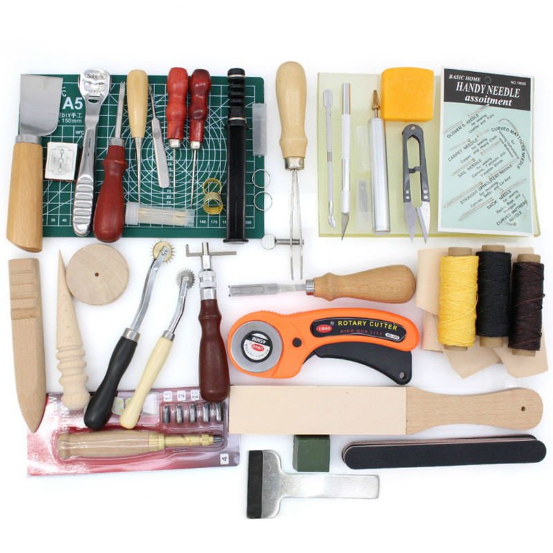 Leather Tool Kits Stitching Groover Skiving Edger Cutting Basic Tools Set