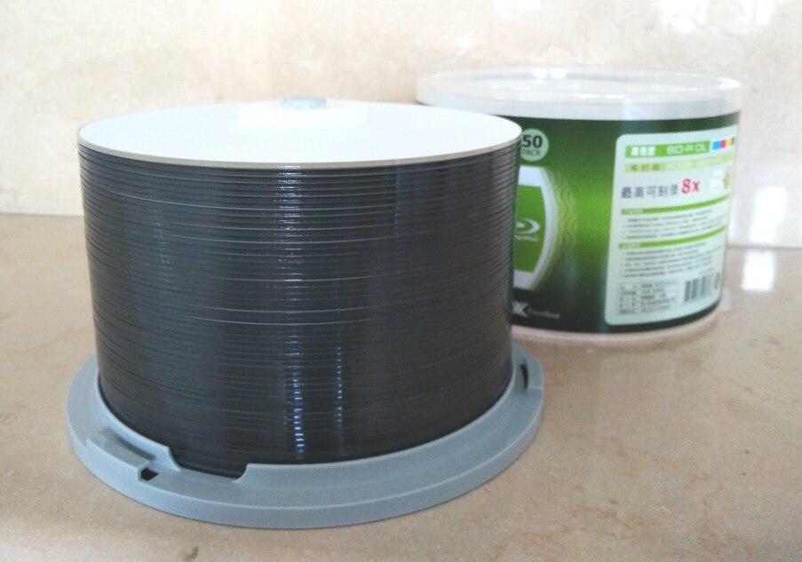 RITEK BD-R 50GB 8X Blue Ray Disc BDR 50g Bluray Inkjet Printable 10Pcs/lot