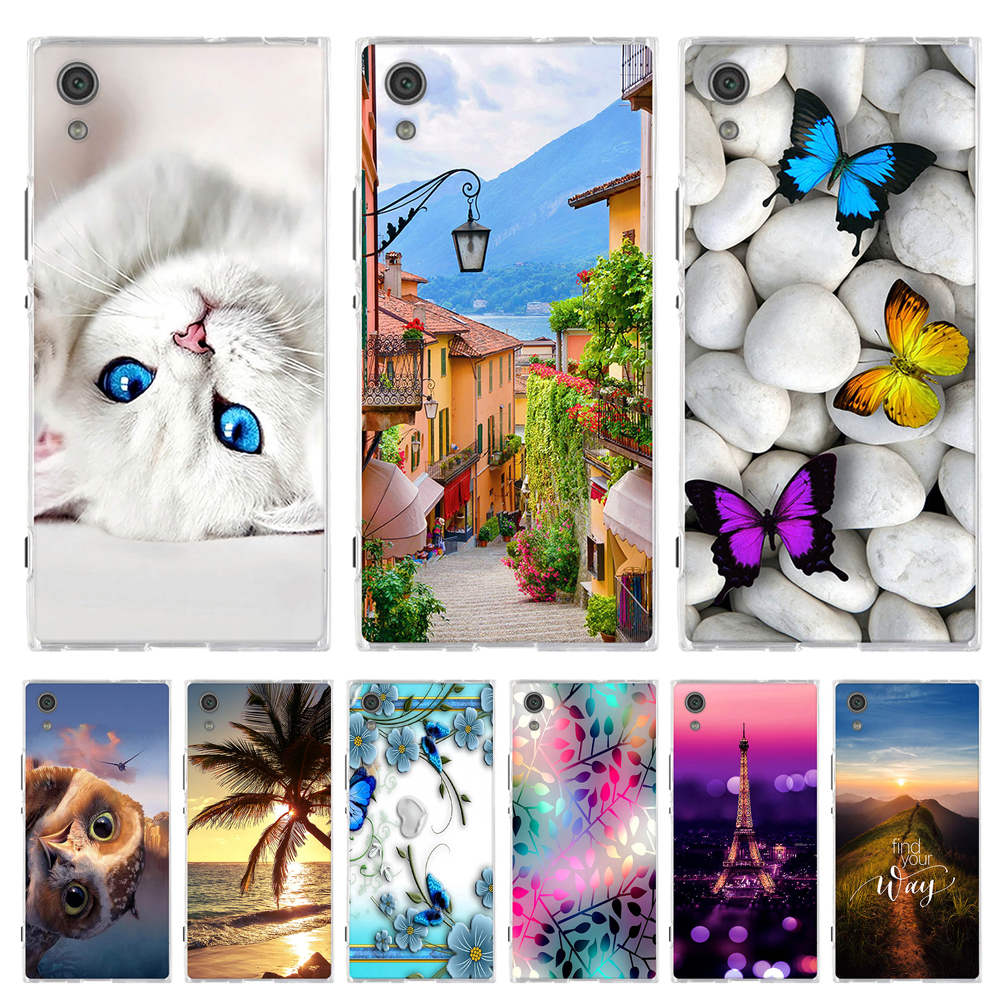 For <font><b>Sony</b></font> Xperia XA1 <font><b>G3112</b></font> G3116 Case Animal Coque For <font><b>Sony</b></font> Xperia XA1 Z6 Cover Soft TPU Silicone Funda For <font><b>Sony</b></font> Xperia Z6 Case image