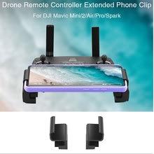 Soporte de teléfono portátil ensanchado para DJI Mavic 2 Pro Zoom/mini Drone Clip soporte para teléfono soporte Accesorios