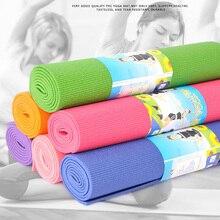 6мм ПВХ нескользящей Складной коврик для йоги для фитнес-упражнения тренажерный зал тонкий открытый коврики коврик легко носить с собой