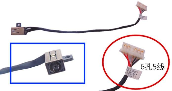 DELL 3458 3459 3558 3568 conector V3585 P51F 3559 DC interface de carregamento porta de alimentação