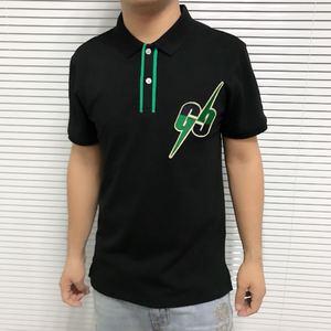 Image 1 - 2019 list haft męskie koszulka POLO na co dzień wzór Streetwear z krótkim rękawem proste bawełniane 100% projektant luksusowe mężczyźni odzież