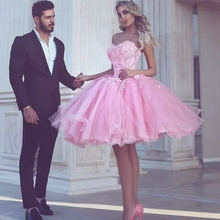 Ball Gown Cocktail Dresses 2020 Sweetheart Neck Short Prom Gown Homecoming Vestido De
