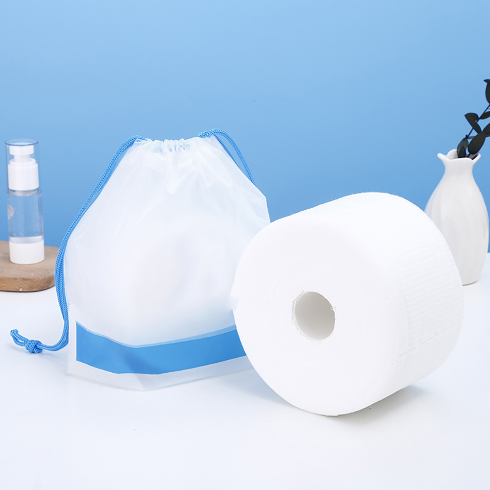 Disposable Face Towel Non-Woven Facial Tissue Makeup Wipes Cotton Pads Facial Cleansing Makeup Remover Roll Paper Tissue