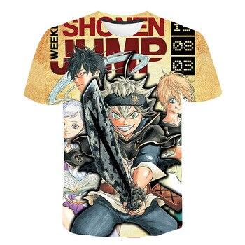 2020 New Black Clover T shirt Men Women Children Cool Printed 3D T-shirt Summer Casual Boy Girl Tops Short Sleeve Streetwear Tee