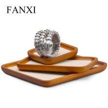 Oirlv лоток для ювелирных изделий массивное дерево кольцо ожерелье