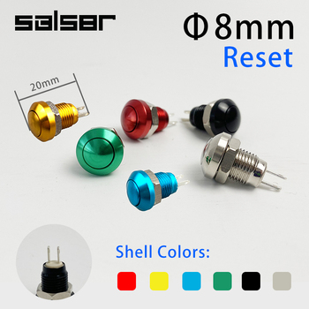 8mm Momentary Metal Horn Doorbell Bell Push Button Switch Waterproof Car Auto Engine PC Power Start Starter image