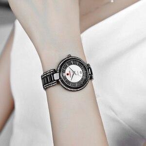 Image 5 - חדש הגעה למעלה יוקרה מותג KADEMAN נשים של קוורץ שעון תאריך אופנה גבירותיי שעוני יד קריסטל יהלומים עמיד למים Montre Femme