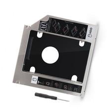 9.5mm sata 2nd disco rígido drive ssd hdd caddy para dell precision m4800 m6800 m4600 m6400