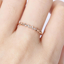 14K Rose Gold Diamond Ring for Women Fashion Anillos Bizuteria Wedding Gemstone White Topaz Fine Jewelry Dainty