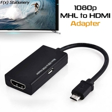 Micro USB 2.0 MHL To HDMI-compatible Cable HD 1080P For Android For Samsung/HTC/LG Android Converter Mini Mirco USB Adapter