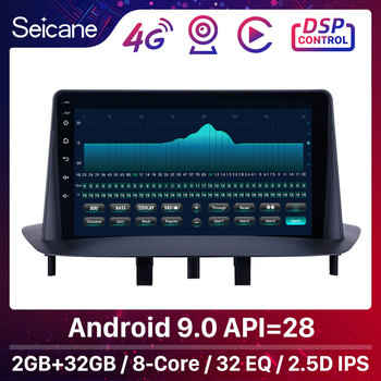 Seicane Car GPS Car Multimedia Player Stereo Android 9.0 GPS for Renault Megane 3 2009 2010 2011 2012-2014 support Carplay SWC image