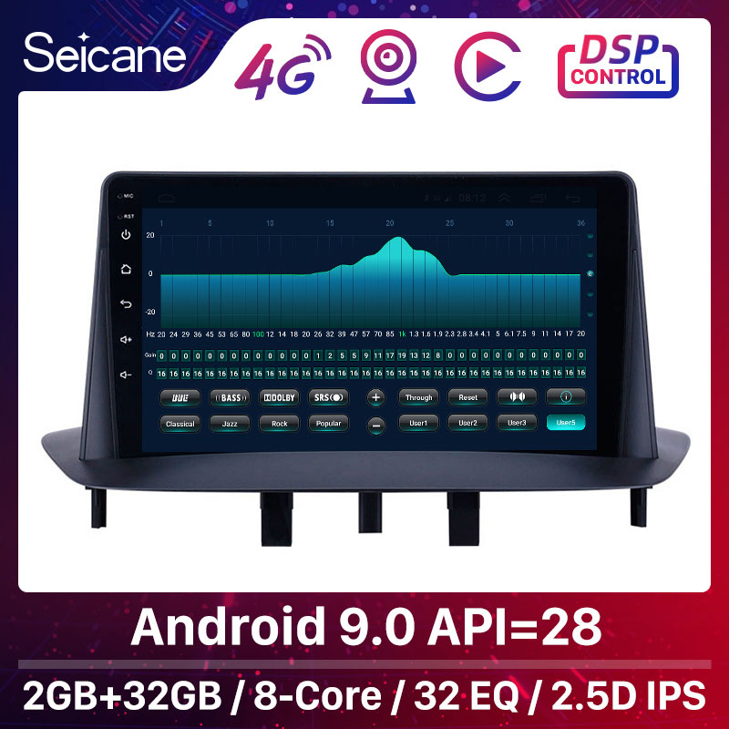 Seicane Car <font><b>GPS</b></font> Car Multimedia Player Stereo Android 9.0 <font><b>GPS</b></font> for Renault <font><b>Megane</b></font> <font><b>3</b></font> 2009 2010 2011 2012-2014 support Carplay SWC image