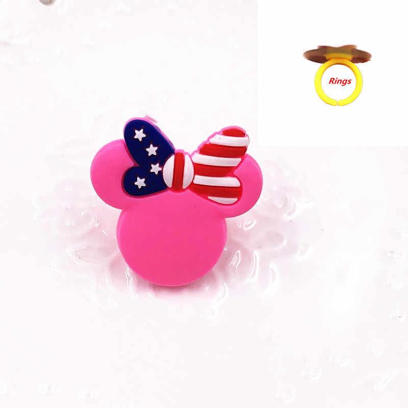 1 قطعة ميني Bowknot بولي كلوريد الفينيل خواتم الاصبع مجوهرات الأزياء تأثيري هدية الكرتون الرموز للأطفال الصغار فنجر الديكور