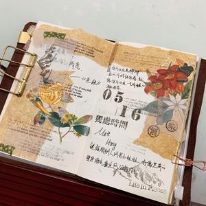 Image 3 - WOKO 100 sztuk Vintage strona zagraniczna papier pakowy tło materiał Retro paproć roślin papier woskowany naklejki etykiety DIY Album Scrapbooking