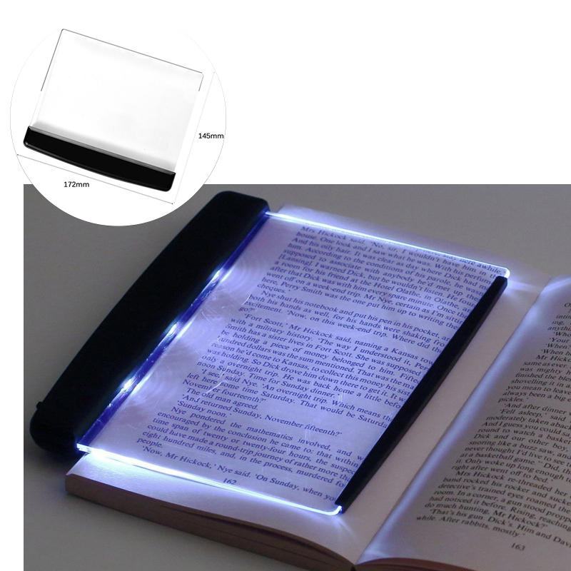 LED Book Lights Creative Flat Plate Panel Reading Lights Eye Protection LED Lamps Portable Travel LED Panel Desk Lamps