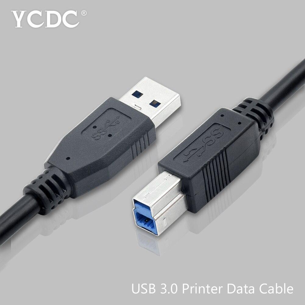 Высокоскоростной Кабель USB 3,0 Type B для синхронизации данных и передачи данных, Кабель для принтера 0,3/0,5/1/1, 8/3/5 м для HP, Canon, Lexmark, Samsung, CyberPower Кабели передачи данных      АлиЭкспресс