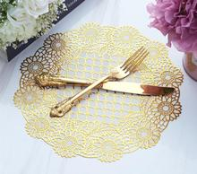 Round Placemat Coaster-Pot Doily Cloth Christmas-Tea Coffee Handmade Kitchen waterproof and heat insulation, 30cm
