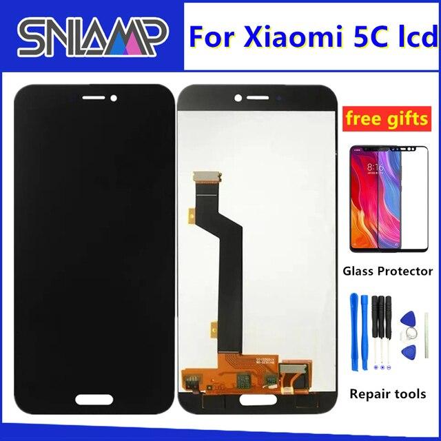 Oryginalny lcd dla xiaomi mi 5C wyświetlacz ekran dotykowy Digitizer zgromadzenie z ramą dla xiaomi mi 5C M5C telefon czujnik części
